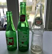Applied Lable 7 Up Soda Bottles / Free Shipping U.s.a. And Canada