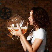 Funny Big Huge Wine Glass Rounds Eco-friendly Large Bar Beer Glass 2000 4000ml