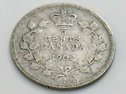 1902 Canada Small Five 5 Cent Silver Circulated Canadian Edward Vii Coin I853