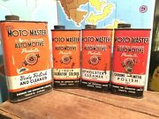 Crazy Rare Motomaster Lot 4 Motor Oil Imperial Quart Can Canadian Tire Ctc Pint