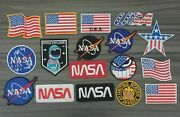 Logo Nasa Flag Of America Embroidered Patch Iron Or Sew On Cloth Jacket Hat Bag