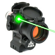 At3 Leos Red Dot Sight With Integrated Green Laser Sight And Riser
