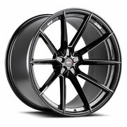 20 Savini Sv-f4 Black Forged Concave Wheels Rims Fits Cadillac Cts V Coupe