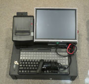 Pos All In One Portable Cash Register W/ Lcd Cherry Keyboard Printer Scanner Pc