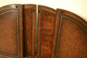 Burly Walnut And Embossed Leather Poker Table Cover