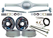 Currie 9 Ford 64 Street Rod Rear End And 11 Drum Brakes,lines,parking Cables,++