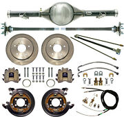Currie 73-87 Chevy C10 5-lug Truck Dropped Rear End And Disc Brakeslinescables