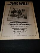 Bruce Springsteen Rare Santa Claus Is Coming To Town Uk Promo Poster Ad Framed