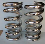 Lowrider Hydraulics 4.5 Ton Coil Springs, Full Stack, One Flat Edge, Chrome,2pcs