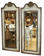 Pair Of Beveled Mirror Backplates For Wall Sconce Light 47.5and039and039x18.5and039and039 Beautiful
