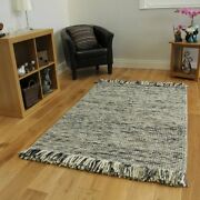 High End Ultra Soft Charcoal Gray 100 Wool Fashionable Living Area Rug 4and039 X...
