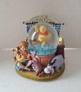 Rare Disney Winnie The Pooh And Friends Musical Snowglobe - Great Condition