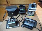 Vtg Polaroid One Step Close Up The Button Captiva Slr Colorpack Ii Camera