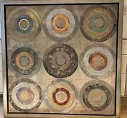 Abstract Circles Giclee Print, Framed From Ethan Allen, 48x48, By Joseph Grassia