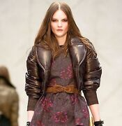4,995 Runway Prorsum 4 6 38 Leather Down Bomber Jacket Women Lady Gift