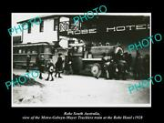 Old Postcard Size Photo Of Robe Sa The Mgm Trackless Train At Hotel C1928