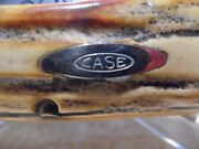Case Xx Very Thick 1977 Vintage Stag Bulldog Clasp Blue Scroll Knife