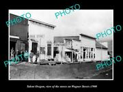 Old Postcard Size Photo Of Talent Oregon The Stores On Wagner Street C1900