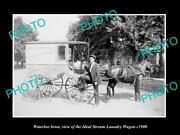 Old Postcard Size Photo Of Waterloo Iowa The Ideal Steam Laundry Wagon C1900