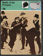 Battle Of The Overpass 1937 Ford Fight Reuther Story Of America Card