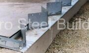 Duro Steel Arch Building 60and039 Metal Hand Welded Industrial Base Connector Plate