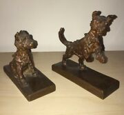 Edith Barretto E.b. Parsons American Terrier Puppies Bronze Kunst Foundry