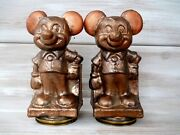 Nos Pair Walt Disney Productions Mickey Mouse Toy Mold Play Pal Never Used