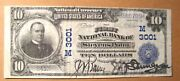 1902 Series 10 First National Bank Stevens Point Wi June 21 1913 Vf-xf