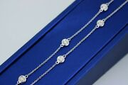 14k White Gold Ladies 2.00 Ct Diamond By The Yard Necklace18 S105044