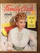 Lucille Ball Cover - Family Circle Magazine - Sep 1953 Lucy And Desi Must See