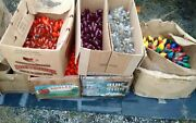 Bulk Lot Of C9 And C7 Used Christmas Light String Cord Bulbs,decoration,holiday,