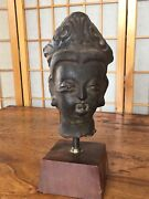 Antique Chinese Song Dynasty Iron Guan Yin Head 10-13 Century