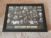Jean Claude Van Damme Jcvd Hand Signed Large Poster Montage Glassframe Very Rare