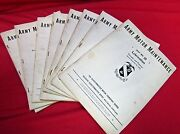 Rare Vintage Wwii Us Army Motor Maintenance Texts Set Near Complete 1940/41