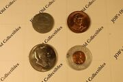 Commemorative Coin Lot4 Including 1958d And039luckyand039 Penny
