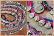 Belly Dance Tribal Amulets On Textile Fringe Jewelry Tribal Fusion Dangles Coin