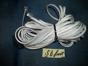 White Around 50 Feet Rotary Phone/wall Supply Cord, Maleand Male ,modu,for Part