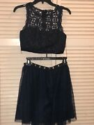 My Michelle Two-piece Set Size 5 Short Blue Homecoming Prom Semi-formal Dress