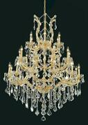 Palace Maria Theresa 28 Light Crystal Chandelier Gold 38x52