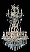 Palace Maria Theresa 25 Light Crystal Chandelier Light Gold 30x50