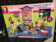 Barbie Learn And Play Center Playset 2000 Preschool Classroom Desks Lesson Board