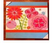 Circo Pink Red Floral Deco Canvas Wall Art 21x21 Bloom Flowers Oopsy Daisy Too