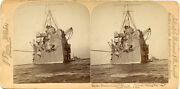 Spanish American War Stereoview Protected Cruiser Minneapolis Flying Squadron