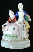 Victorian Colonial Lady And Gentleman Vintage Porcelain Figurines Occupied Japan