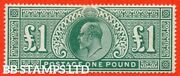 Sg. 266. M55. Andpound1.00 Dull Blue - Green. A Super Unmounted Mint Example . B43315