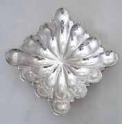 Hungarian Arts And Crafts Serving Bowl 1937 Hand Made Hammered 800 Silver