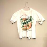 Snapple Mellonberry Size L Tee Shirt 90and039s Single Stitch Best Stuff On Earth