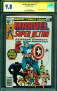 Marvel Super Action 1 Cgc Ss 9.8 Stan Lee Signed Captain America 100 Story Kirby