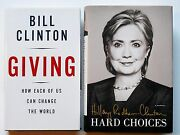 Bill Clinton And Hillary Clinton Signed First Editions Autograph Books W/proof