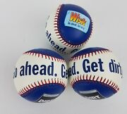 Wisk Go Ahead Get Dirty Baseball Ball Detergent Promotional Red White Blue Hard